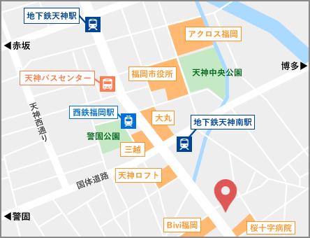 福岡オフィス地図